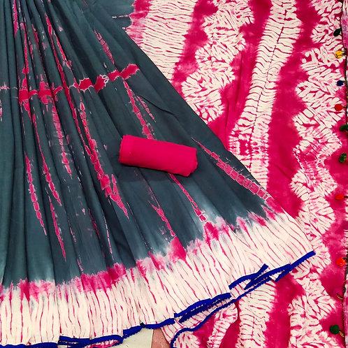 Handloom Soft Cotton Banaras Zari - 1