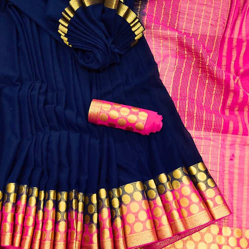 Benni Chiffon Quality Saree - 7