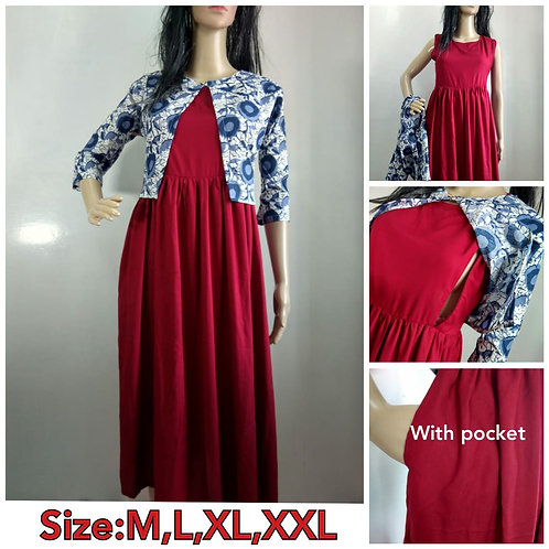 KURTI WITH REMOVABLE JACKET