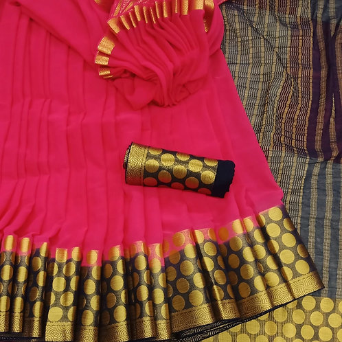 Benni Chiffon Quality Saree - 6