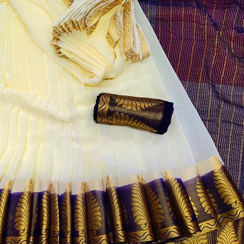 Benni Chiffon Quality Saree - 1