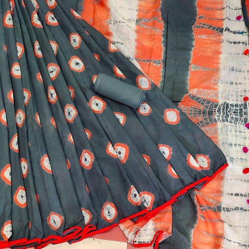 Handloom Soft Cotton Banaras Zari - 6