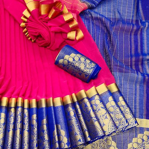 Benni Chiffon Quality Saree - 8