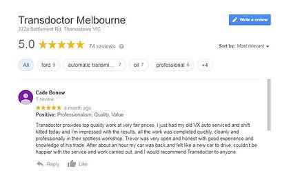 Transdoctor Melbourne Google Reviews