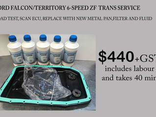 Ford Falcon/Territory 6-speed ZF Trans service