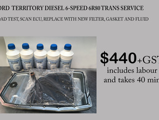 Ford Territory Diesel 6-speed 6R80 Trans Service at Transdoctor