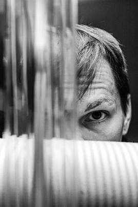 Self Portrait 763 - Hiding Behind A Sofa