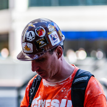 Stickers On A Helmet