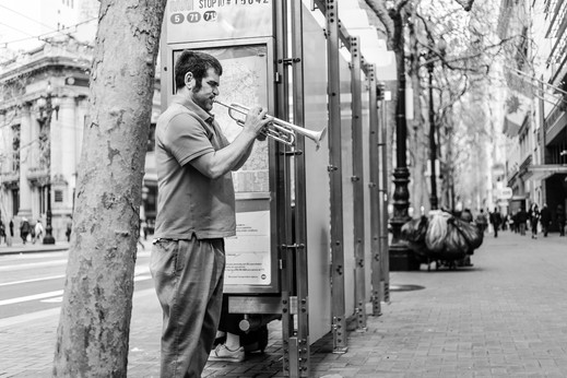 The Blind Trumpeter's Audience