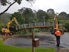 Bridge install-Waihi Beach Trig Trail