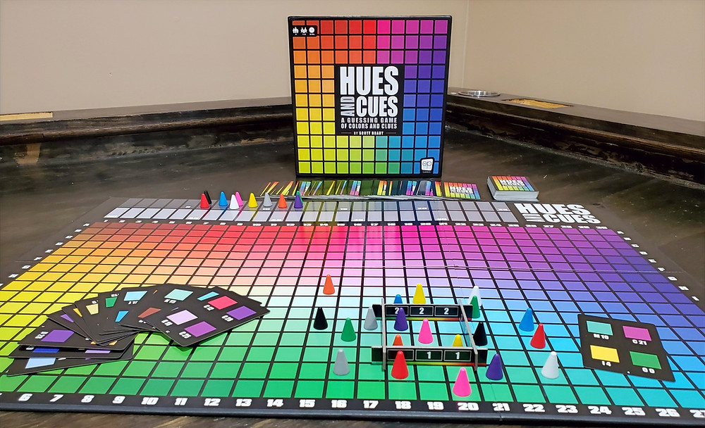 Hues and Cues Game Setup