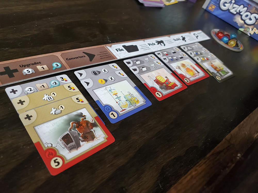 Example of Gizmo cards and effects