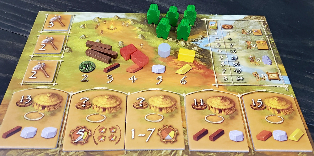 The player board in Stone Age