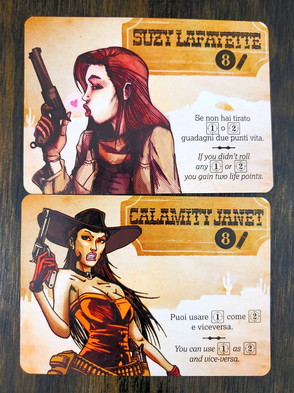 Bang! The Dice Game Character Cards