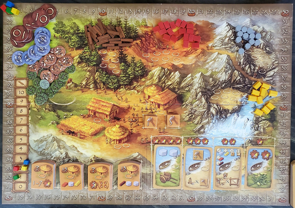 The game board in Stone Age
