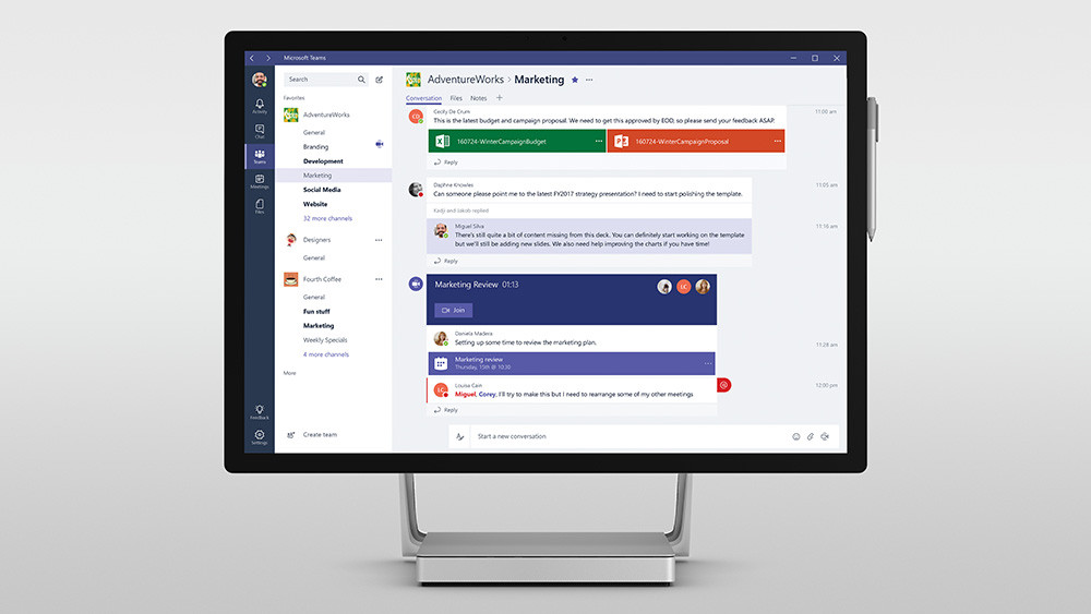 Image Microsoft Teams channel example