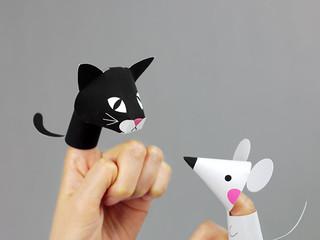 Бумажные игрушки для кукольного театра