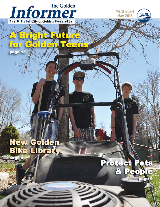 Green Worx raids the front page of the Golden Informer