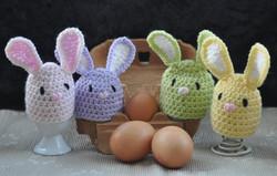 Set of 4 Bunny Egg Cosies