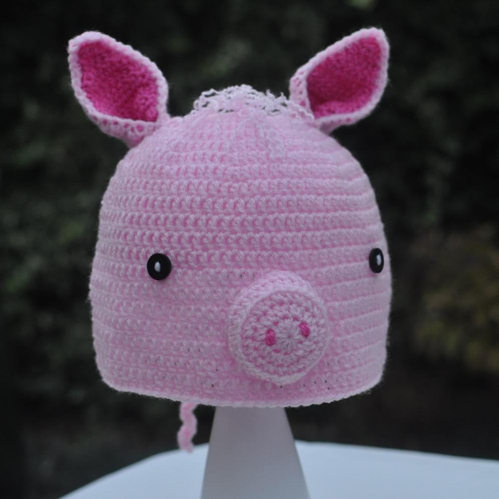 Loopy Needles Crochet Pig Hat