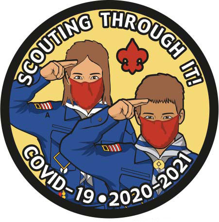 """3"""" Scouting Through It! Twill Patch"""