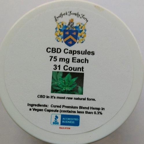 50 mg ea (Aproximately) Full Spectrum CBD Capsules 30 Ct
