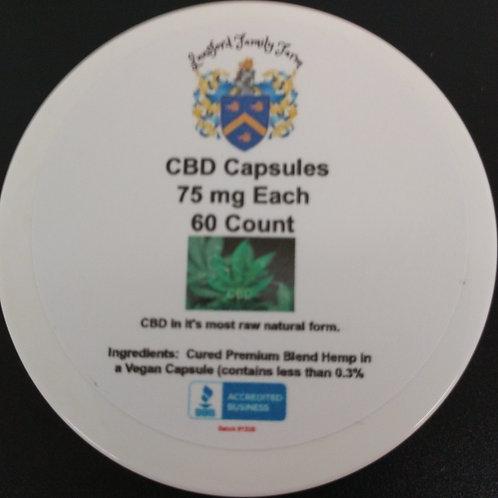 50 mg ea (Approximately) Full Spectrum CBD Capsules 60 ct