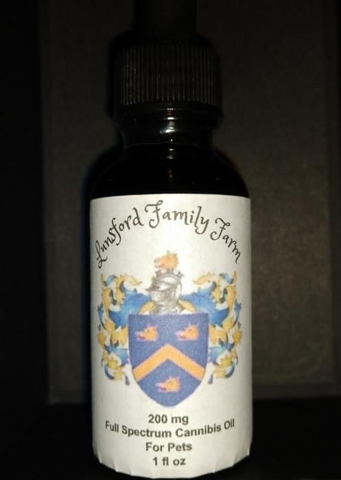 200 mg Full Spectrum CBD Rich Hemp Oil Pet Tincture