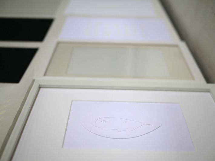 exposition JPO ateliers d'artistes, Invisibilisation, découpage,  Toulouse, 2020