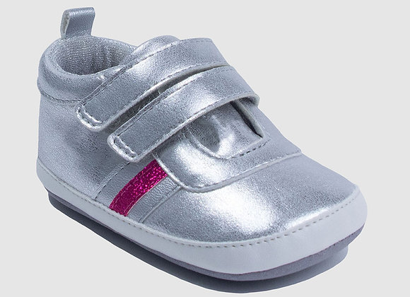 ro + me Silver Molly Athletic Baby Shoes