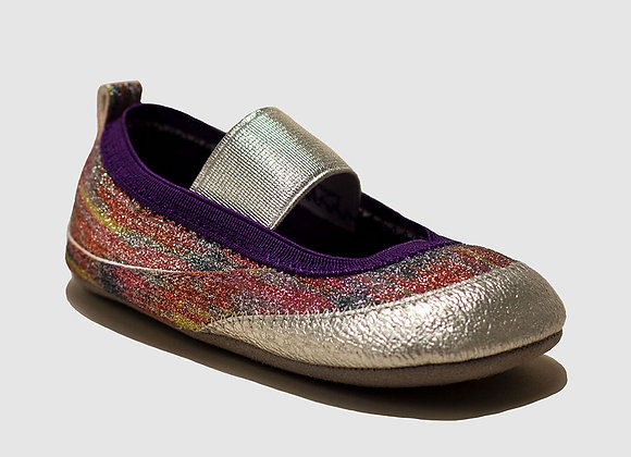 ro + me Rainbow Glitter Mary Jane Baby Shoes