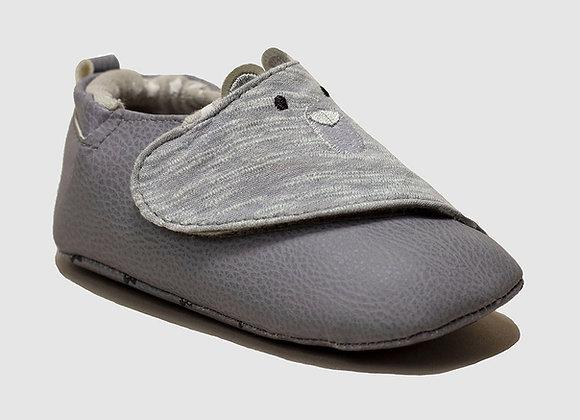 ro + me Grey Bear Baby Shoes