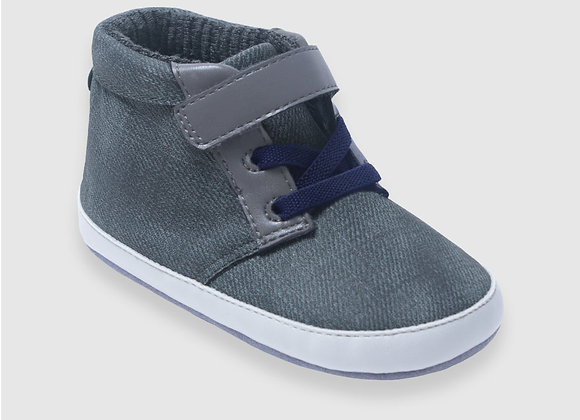 ro + me Grey Chuck Boot Baby Shoes