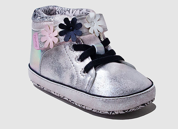 ro + me Pink Kitty High Top Baby Shoes