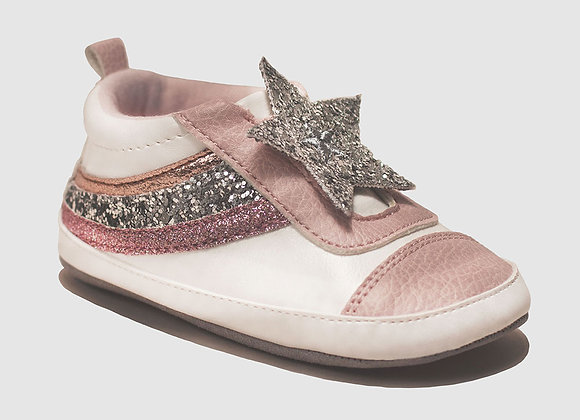 ro + me Pink Slip On Baby Shoes