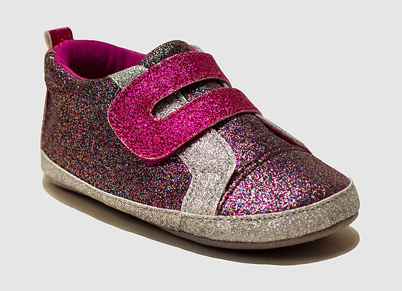 ro + me Purple Glitter Athletic Baby Shoes