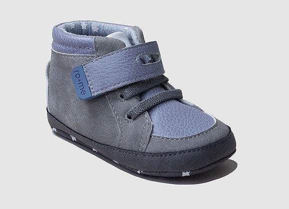ro + me Grey Bear High Top Baby Shoes