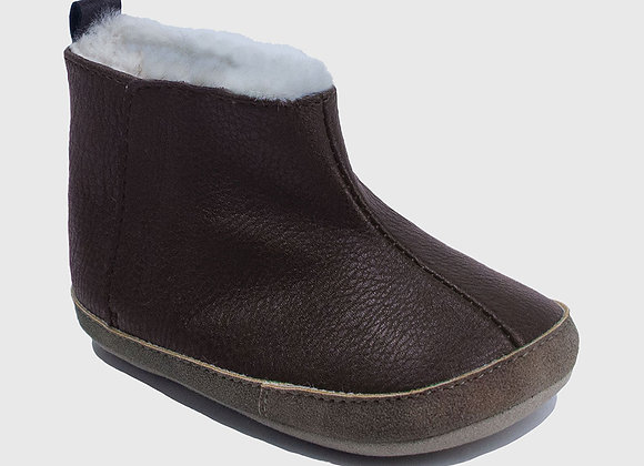 ro + me Brown Ryan Cozie Boot Baby Shoes