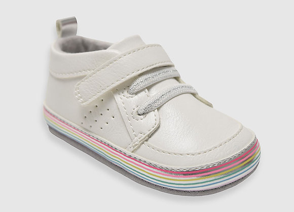 ro + me Natalie Baby Shoes,White