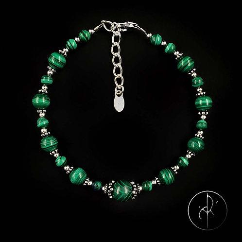 Bracelet indien malachite