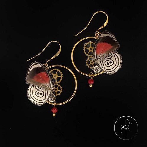 Boucles d'oreilles papillon plaqué or