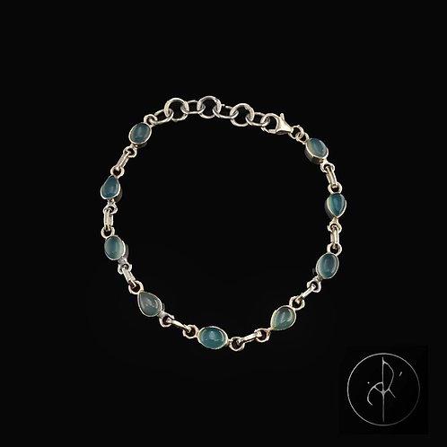 Bracelet aqua calcédoine