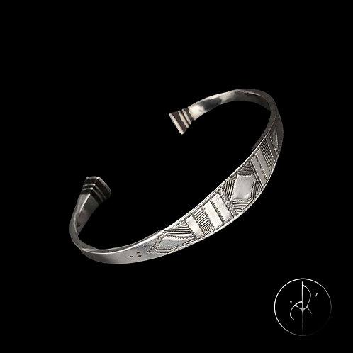 Bracelet touareg avec bouts en bois précieux