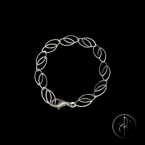 Bracelet en argent sablé