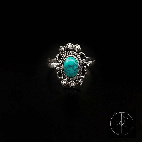 Bague indienne turquoise