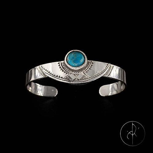 Bracelet touareg avec turquoise