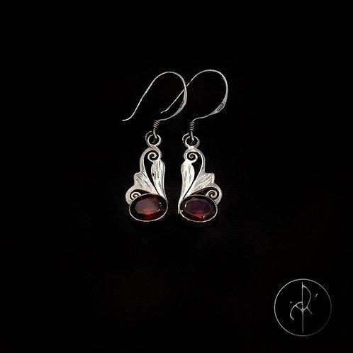 Boucles d'oreilles indiennes grenat