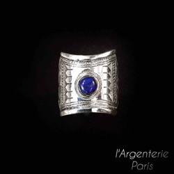 Bague touareg avec lapis lazuli