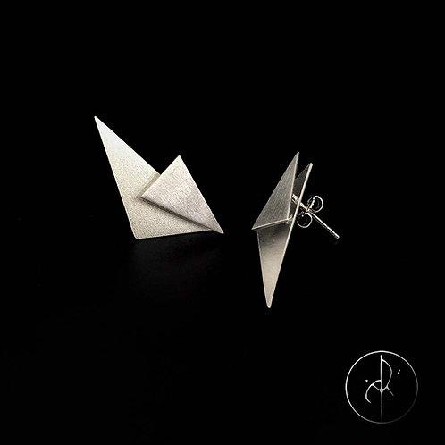 Boucles d'oreilles triangles 3D