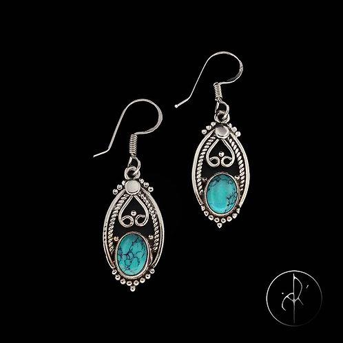 Boucles d'oreilles indiennes Turquoise